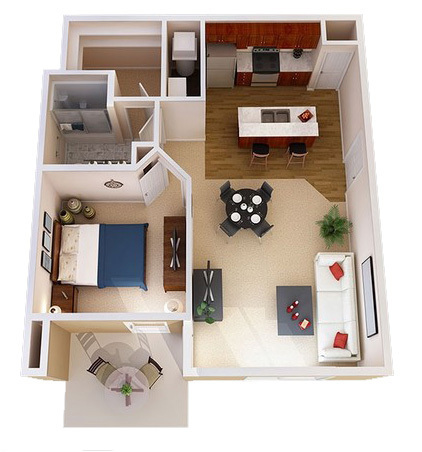 Arbor_II Floorplan at Mason Grand Apartments